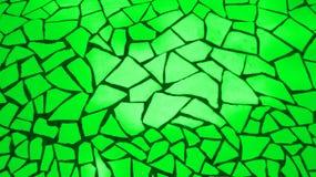 Heldergroene mozaïekstenen Royalty-vrije Stock Afbeelding