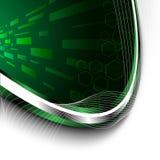 Heldergroene technologieachtergrond Stock Afbeeldingen