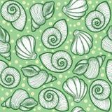 Heldergroene textuur met shells Royalty-vrije Stock Fotografie