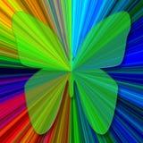 Heldergroene vlinder Stock Illustratie