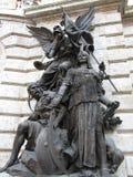 Heldhaftige Ridders van Boedapest, Hongarije Stock Foto's