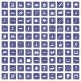 100 Heldikonen stellten Schmutzsaphir ein Stockbild