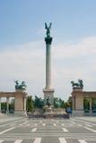 Heldquadrat in Budapest Stockbild