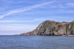 Hele海湾在北德文区在英国 库存图片