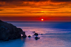 Hele bay sunset Stock Photography