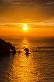 Hele bay sunset Stock Photo