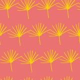 Helecho amarillo anaranjado de la selva dejar el fondo inconsútil del diseño del modelo stock de ilustración