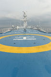 Helicopter landing pad on ferry Stock Image
