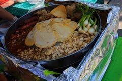 Helemaal opnieuw in openlucht makend taco's Royalty-vrije Stock Foto