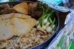Helemaal opnieuw in openlucht makend taco's Royalty-vrije Stock Foto's