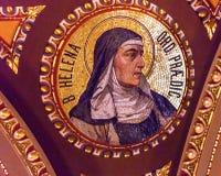 Helen av UngernmosaikSt Stephens Cathedral Budapest Hungary Arkivfoton
