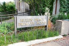 Helen Brach Primate House, Lincoln Park Zoo. The Helen Brach Primate House at the Lincoln Park Zoo is home to Several Gorillas including three Silverbacks stock image