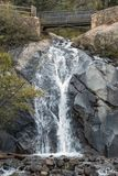 Helen Hunt Falls. On Cheyenne Creek in the North Cheyenne Cañon Park of Colorado Springs, Colorado Royalty Free Stock Image