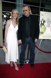 Helen Hunt and Matthew Carnahan royalty free stock image