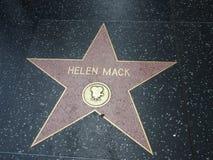 Helen Mack-Stern in Hollywood lizenzfreie stockfotografie