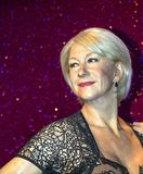 Helen Mirren, Madame Tussauds museum in London. Royalty Free Stock Image