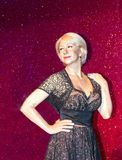 Helen Mirren in Madame Tussauds wax museum in London. Stock Photography