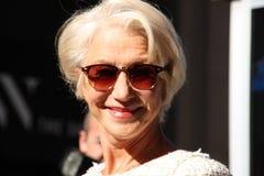 Helen mirren på fashionweek i New York, våren 2016 royaltyfri fotografi