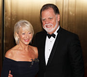 Helen Mirren and Taylor Hackford Stock Images