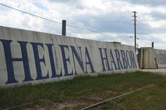 Helena Harbor wall painting at the Helena Levee Walk, Helena Arkansas. Royalty Free Stock Photography