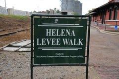 Helena Levee Walk, Helena Arkansas Foto de archivo