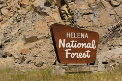 Helena National Forest Sign US Department of Agriculture Stock Photo