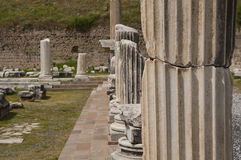 Helend centrum van Asklepion in Pergamum (Pergamon), Bergama, Turkije Royalty-vrije Stock Afbeeldingen
