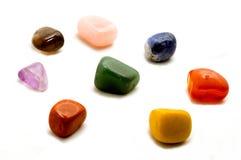 Helende kristallen, die op wit worden geïsoleerdr Royalty-vrije Stock Foto