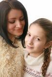 Helende moeder-dochter verhoudingen Royalty-vrije Stock Foto's