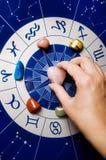 Helende stenen en astrologie Stock Foto's