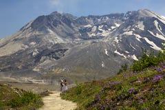 helens πεζοπορία επικολλήστε το εθνικό πάρκο Άγιος Ουάσιγκτον Στοκ Εικόνες