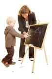 Helfen bei der Zeichnung Stockfoto