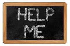 Helfen Sie mir auf einer Tafel Lizenzfreie Stockfotos