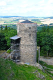 Helfenburg castle, defend tower Stock Image