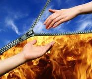 Helfende Hand Stockfoto
