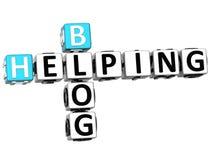 helfendes Kreuzworträtsel des Blog-3D Stockbild