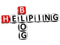 helfendes Kreuzworträtsel des Blog-3D Stockfotografie