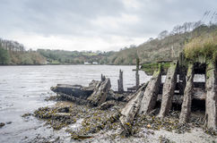 Helford passage in cornwall england uk Royalty Free Stock Image
