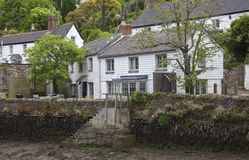 Helford village on the bank of the Helston River, Cornwall, England Stock Photos