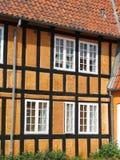 Helft-betimmerd huis in Faaborg Stock Foto's