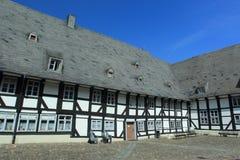 Helft-betimmerd huis in Goslar Stock Afbeelding