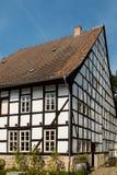 Helft-betimmerd Huis in Quedlinburg Duitsland Royalty-vrije Stock Foto's