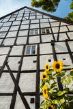 Helft-betimmerd Huis in Quedlinburg Duitsland Stock Afbeelding