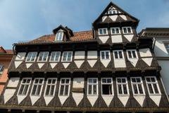 Helft-betimmerd Huis Quedlinburg Duitsland Royalty-vrije Stock Afbeelding