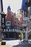 Helft-betimmerde gebouwen in Duitsland Royalty-vrije Stock Fotografie