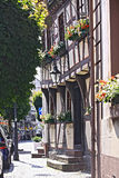 Helft-betimmerde gebouwen in Duitsland Stock Foto