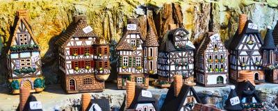 Helft-betimmerde het huisminiatuur van Nuremberg symbool Royalty-vrije Stock Foto's
