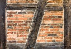 Helft-betimmerde Muur Stock Foto