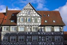 Helft-betimmerde voorgevel-iii-Schorndorf Stock Fotografie