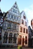 Helft-betimmerende Huizen in Limburg een der Lahn, Duitsland royalty-vrije stock foto